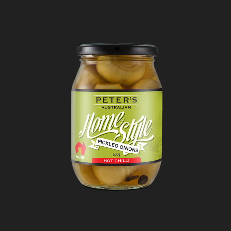 Icon Graphic Design Adelaide - web designer Adelaide image Peter's Home Style Hot Pickled Onions jar.