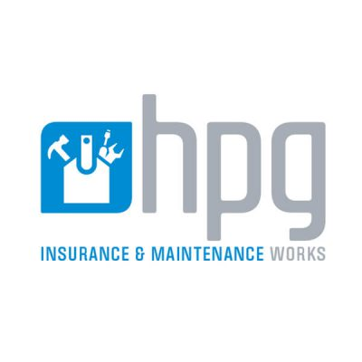 Icon Graphic Design Adelaide - logo design Adelaide image of HPG Insurance & Maintenance Works logo.