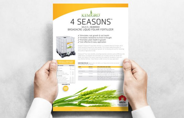 Icon Graphic Design Adelaide - business card design page image of Kemgro 4 Seasons Flyer.