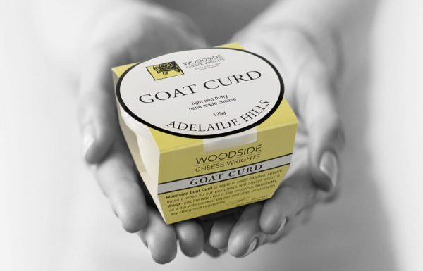 Icon Graphic Design Adelaide - packaging page image of Woodside Cheese Goat Curd package design.