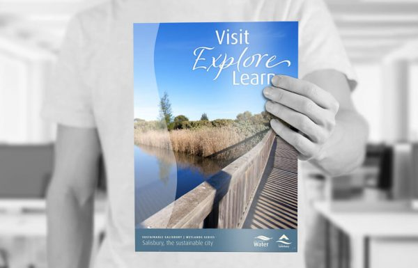 Icon Graphic Design Adelaide - business card design page image of City of Salisbury Wetlands brochure cover.